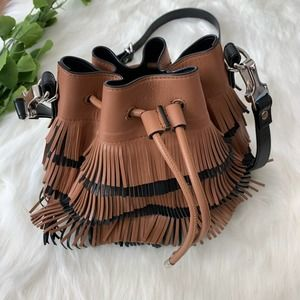 Proenza Schouler | Fringe Bucket Bag Black & Brown